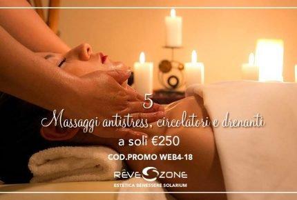 Promo 5 massaggi drenanti antistress